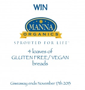 Manna Organics Breads and Giveaway